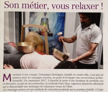 Ma première parution dans le journal » le Blanc Mesnilois » septembre 2018