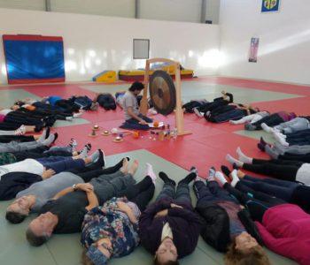Séance de relaxation- dojo stade Jean Bouin- Blanc Mesnil -mardi 23/10/2018  9h30 à 10h30.