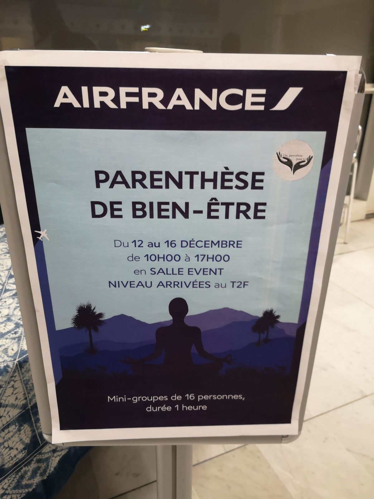 Affiche des journées bien-être en décembre 2019 chez Air France