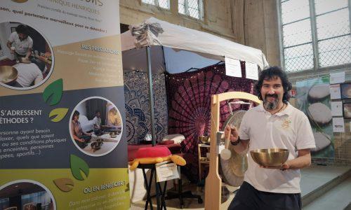 Le massage sonore au 1er salon du bien-être de Senlis