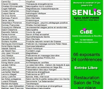 liste des intervenants participants au salon bien-être de Senlis