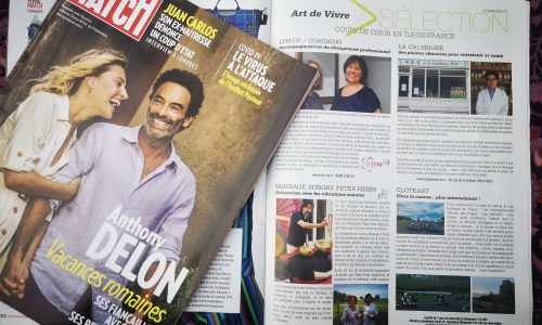 Le massage sonore Peter Hess® dans le magazine PARIS MATCH
